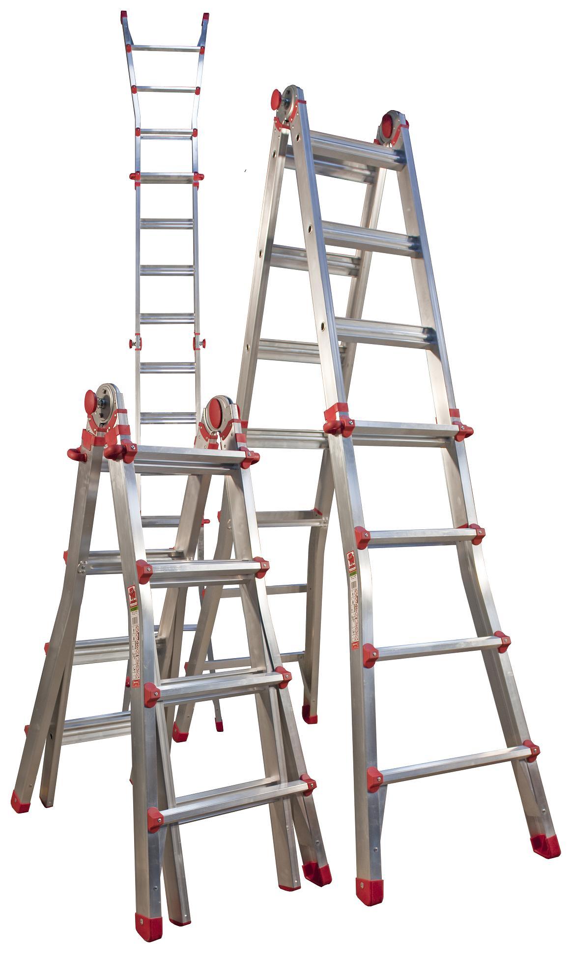 PROFI Doppel-Teleskopleiter Mehrzweckleiter Malerleiter Leiter 14 Stufen